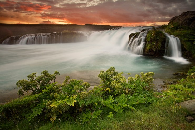 Waterfall-outside-of-Hella-Brian-Rueb-Iceland-Book
