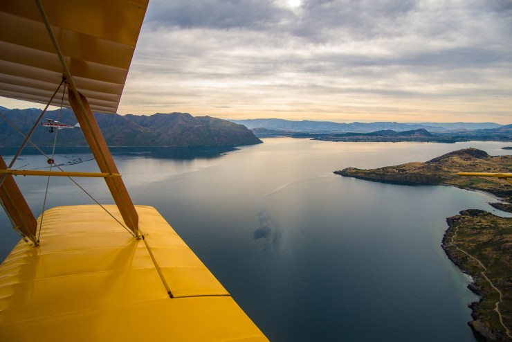 Lake Wanaka New Zealand Tiger Moth Flight 7