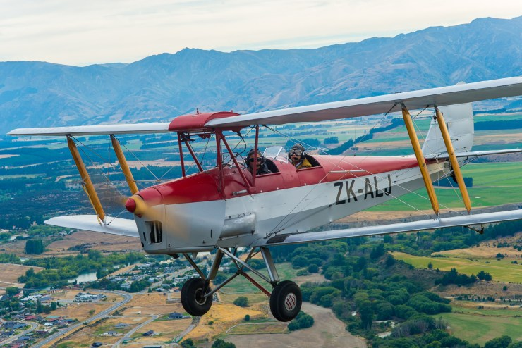 Lake Wanaka New Zealand Tiger Moth Flight 9