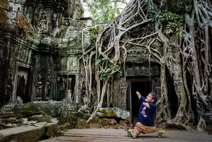 Exploring Ta Prohm, Cambodia.