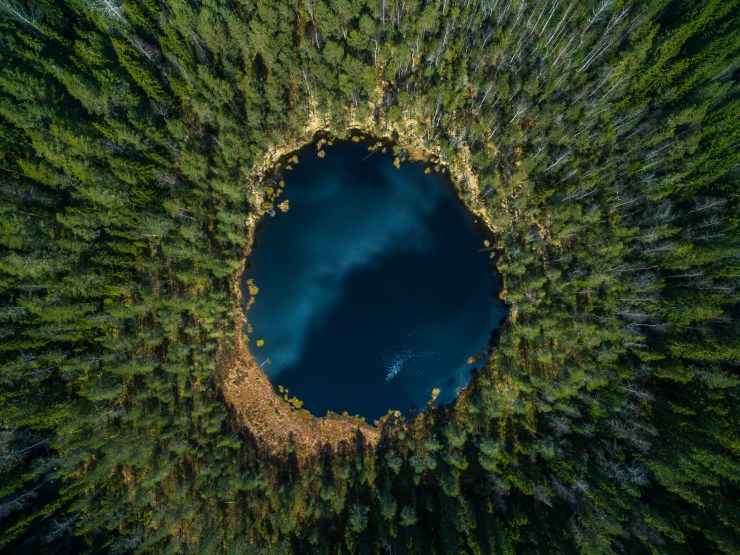 Finland Drone over circle lake 2 by Michael Matti