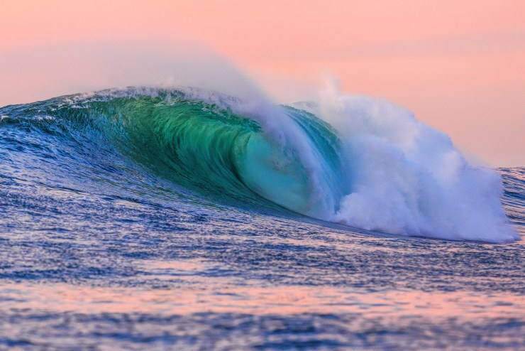 Late afternoon waves at Maverick's in Half Moon Bay, California. Photo By Michael Bonocore.