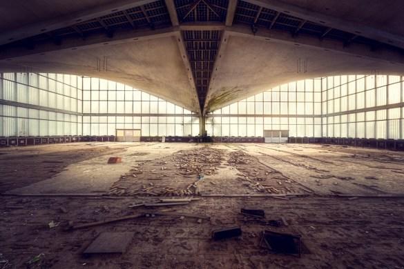 Gymzaal in het oosten van Duitsland