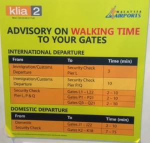 KLIA2 Walking Advice