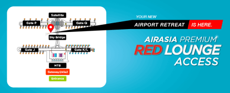 AirAsia Premium Red Lounge Map