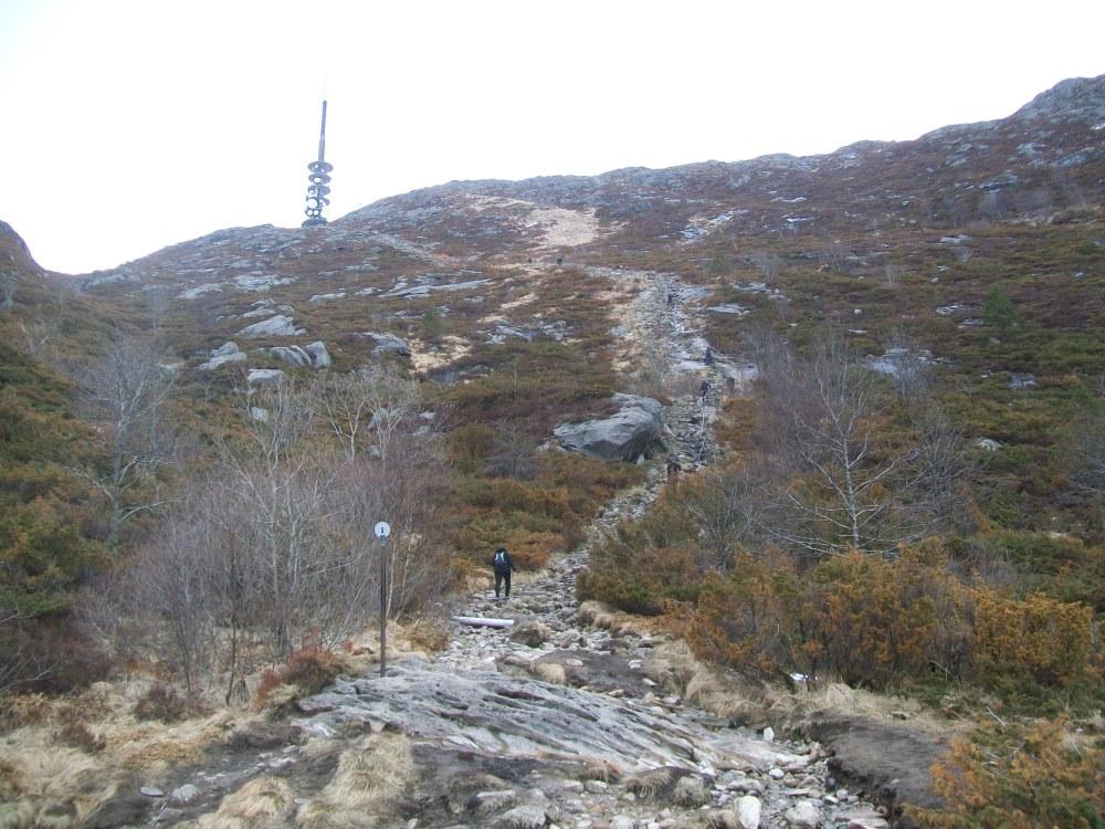 Climbing Mount Ulriken, Bergen, Norway (1/6)