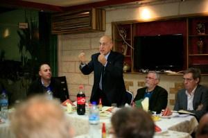 Nabil Sha'ath, Husam Zomlot, John Austin and Martin Linton