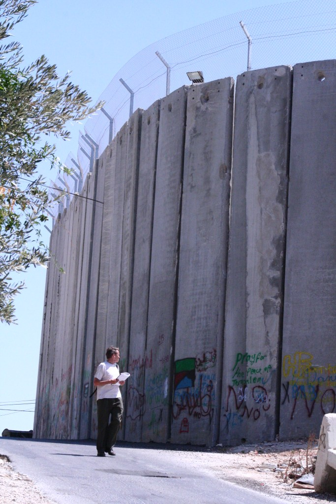 The Israel wall in Bethlehem.