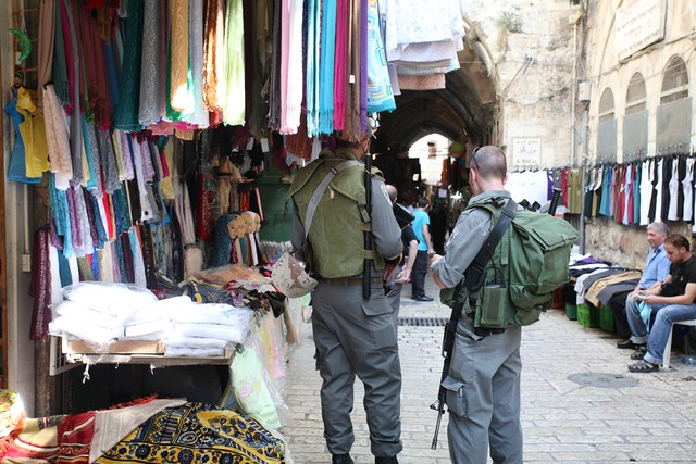 Israeli police in the old city, East Jerusalem
