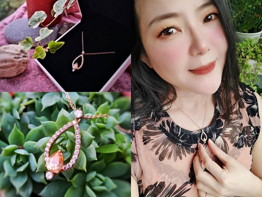 【Queen Jocelyn】女孩的第一件輕珠寶×外出旅遊不可忘的質感~黃橙雨露玫瑰金晶鑽項鍊簡約時尚