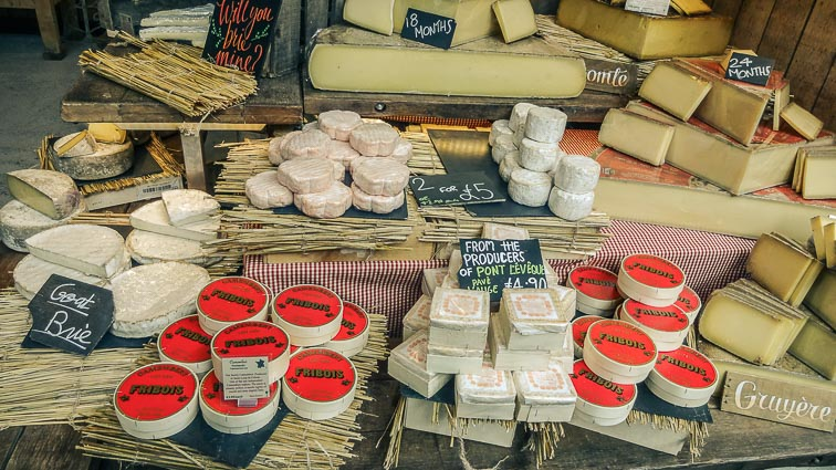 Cheese at Borough Market, London