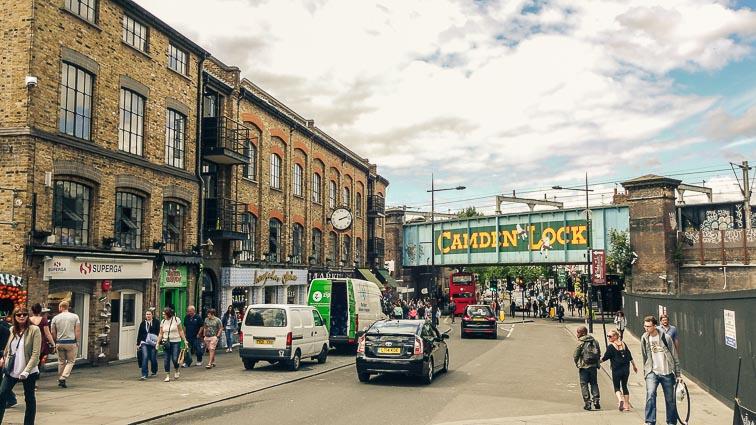 Camden Lock near Camden Market, London