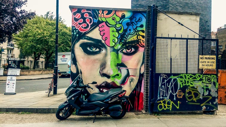 Street art in Shoreditch, London
