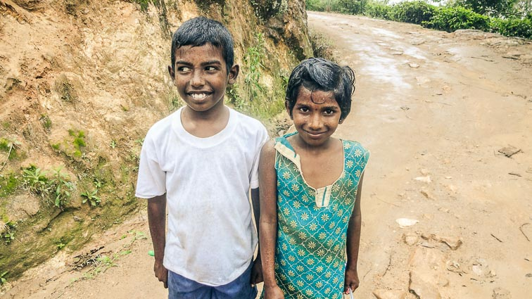 Children in Ella, Sri Lanka