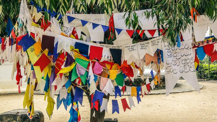 Prayer flags in Kandy, Sri Lanka