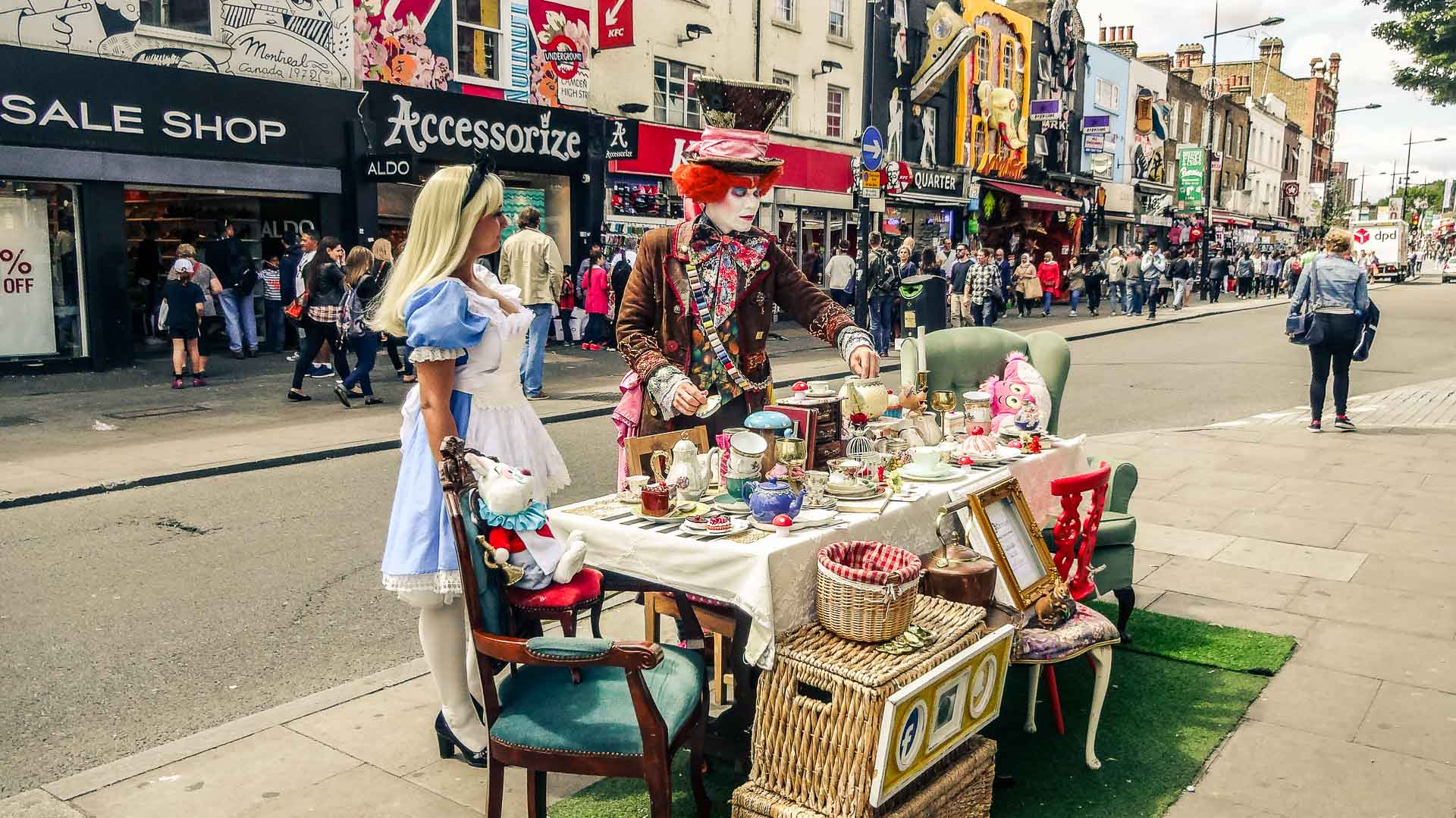 Street artists near Camden Market, London