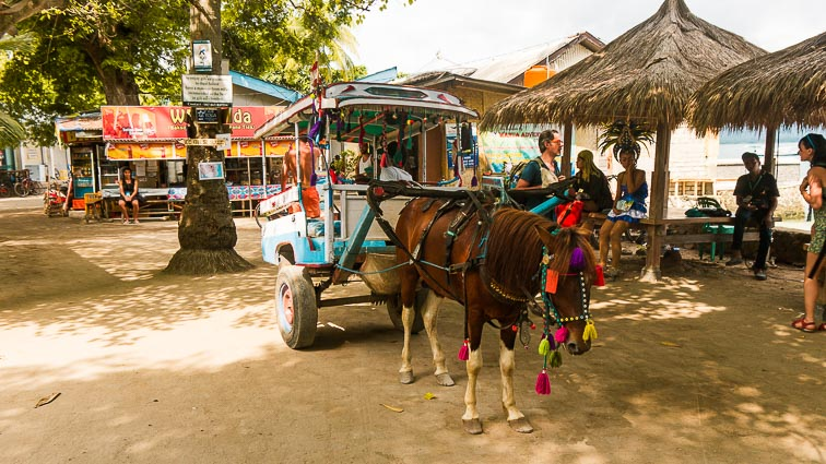 Gili Islands. Gili Trawangan, Gili Meno, Gili Air. Horse Carriage