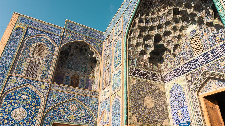 Shah Mosk in Esfahan, Iran How expensive is Iran to Travel? Cost of travel in Iran.