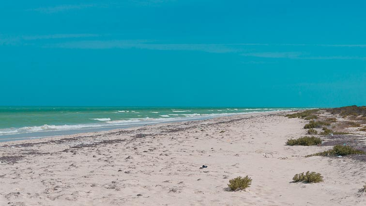 Empty beaches, Las Coloradas, Mexico