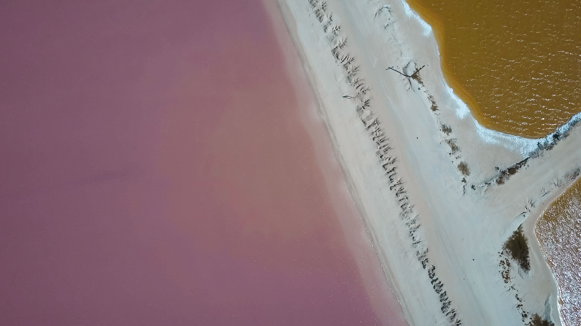 Link lakes, Las Coloradas, Mexico