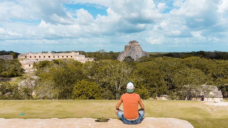 The temples of Uxmal, Mexico