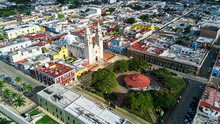 Main square of Campeche, Mexico