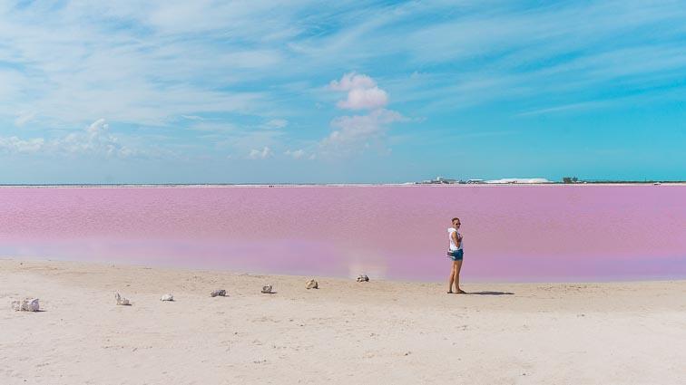 Las Coloradas Pink Lakes, Mexico.