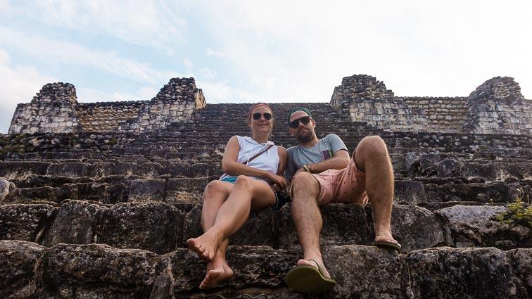 Erick and Kirsten at the temples of Ek Balam, Yucatán, Mexico.