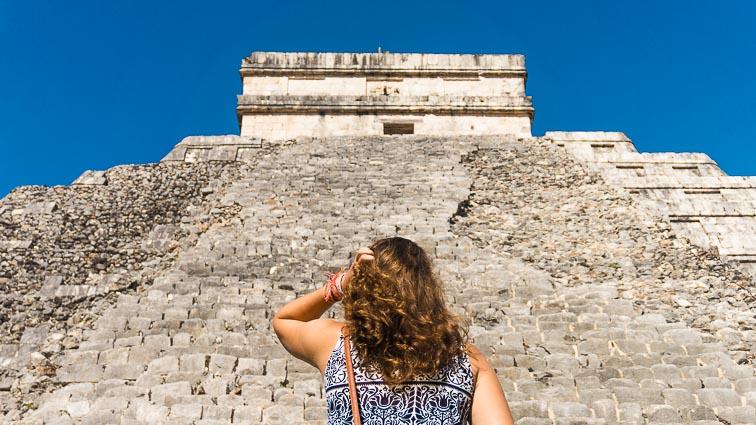 Kir at the Mayan temples of Chichén Itza, Mexico.