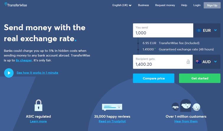 Transferwise, a cheap way to send money abroad