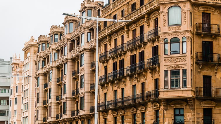 Renaissance buildings in San Sebastián