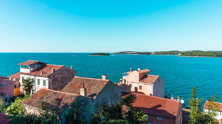 Krk Island from Croatia mainland