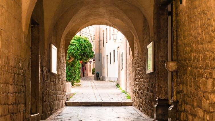Medieval streets in Krk