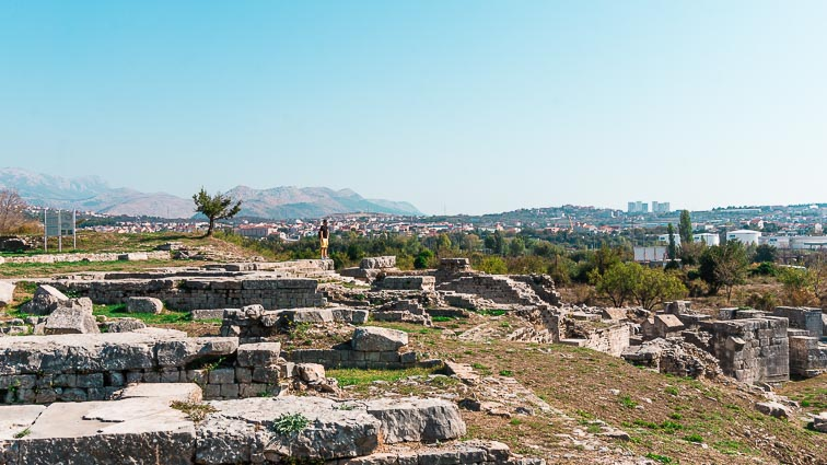 Excavations of the ruins of Solin