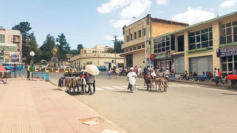 The streets of Gondar