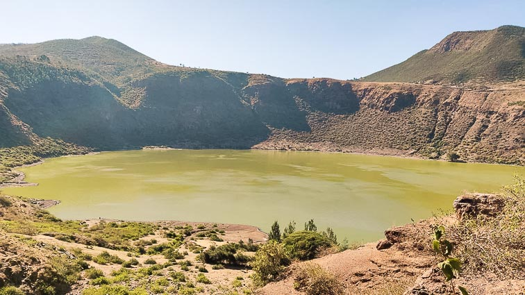 Volcanic lake in Ethiopia