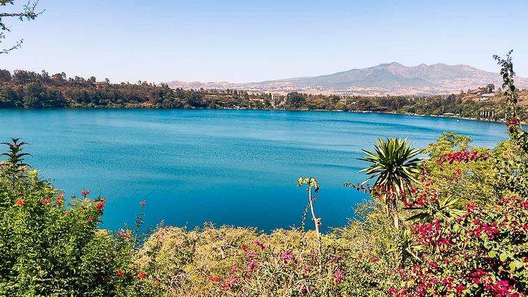 Volcanic lakes near Debre Zeyit