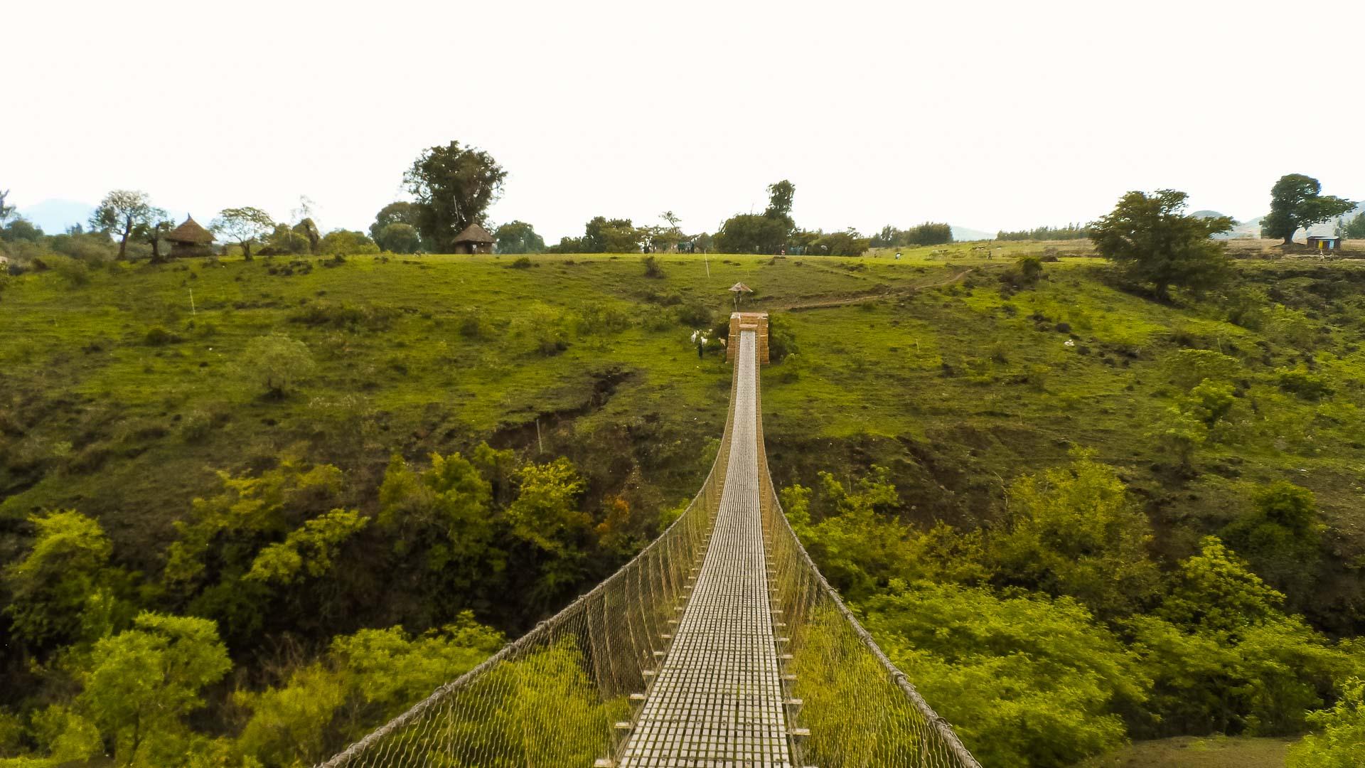Foot bridge in Bahir Dar, Ethiopia