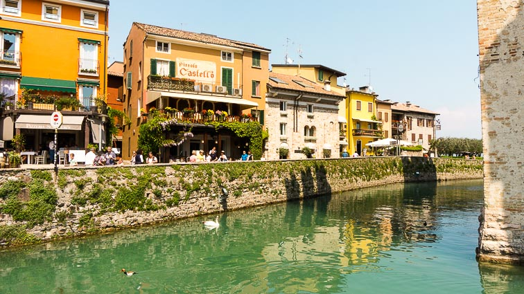 The water around Castello Rocco. Things to do around Lake Garda