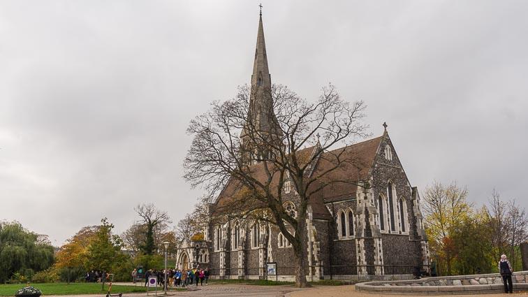 St Alban's Church, near the waterfront in Copenhagen