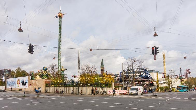 Tivoli Amusement Park, across the main station of Copenhagen