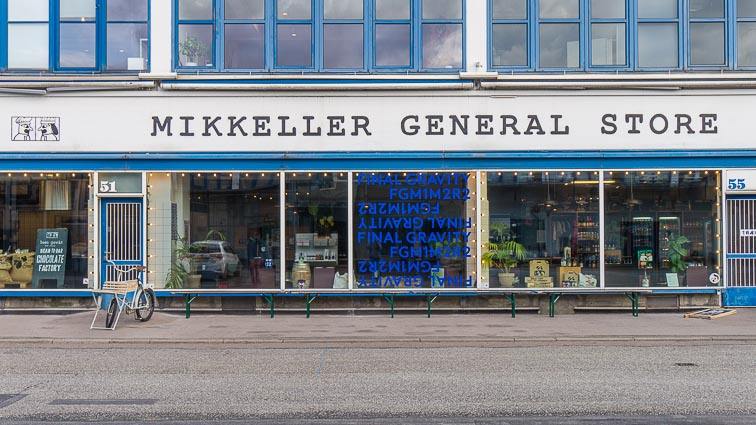 The Mikkeller General Store in the Meatpacking District of Copenhagen