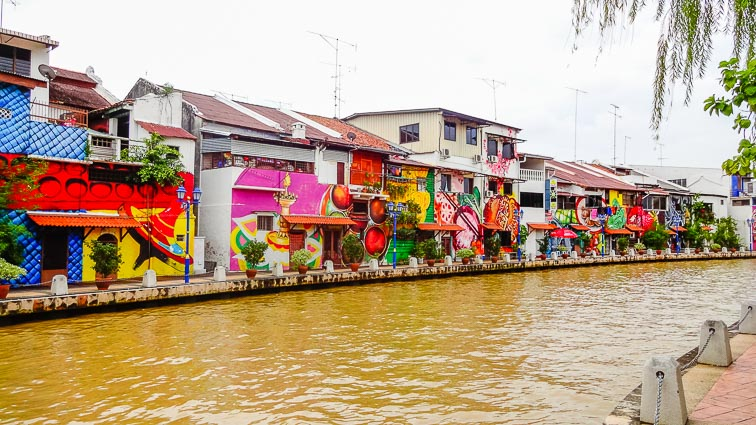Canal in Melaka, Malaysia. Things to do in Malaysia