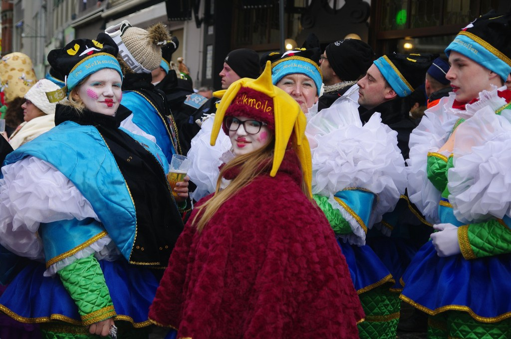 people dressed in costumes at the Aalst Carnival