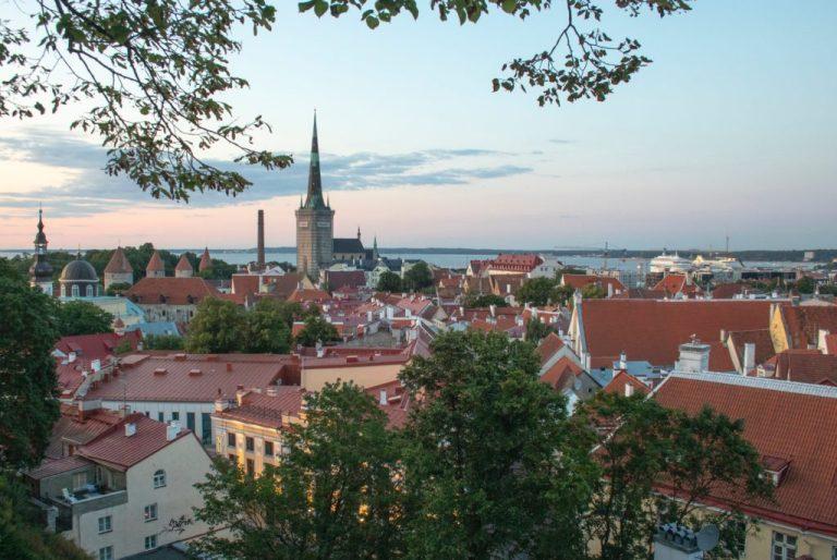 city of Tallinn in Estonia