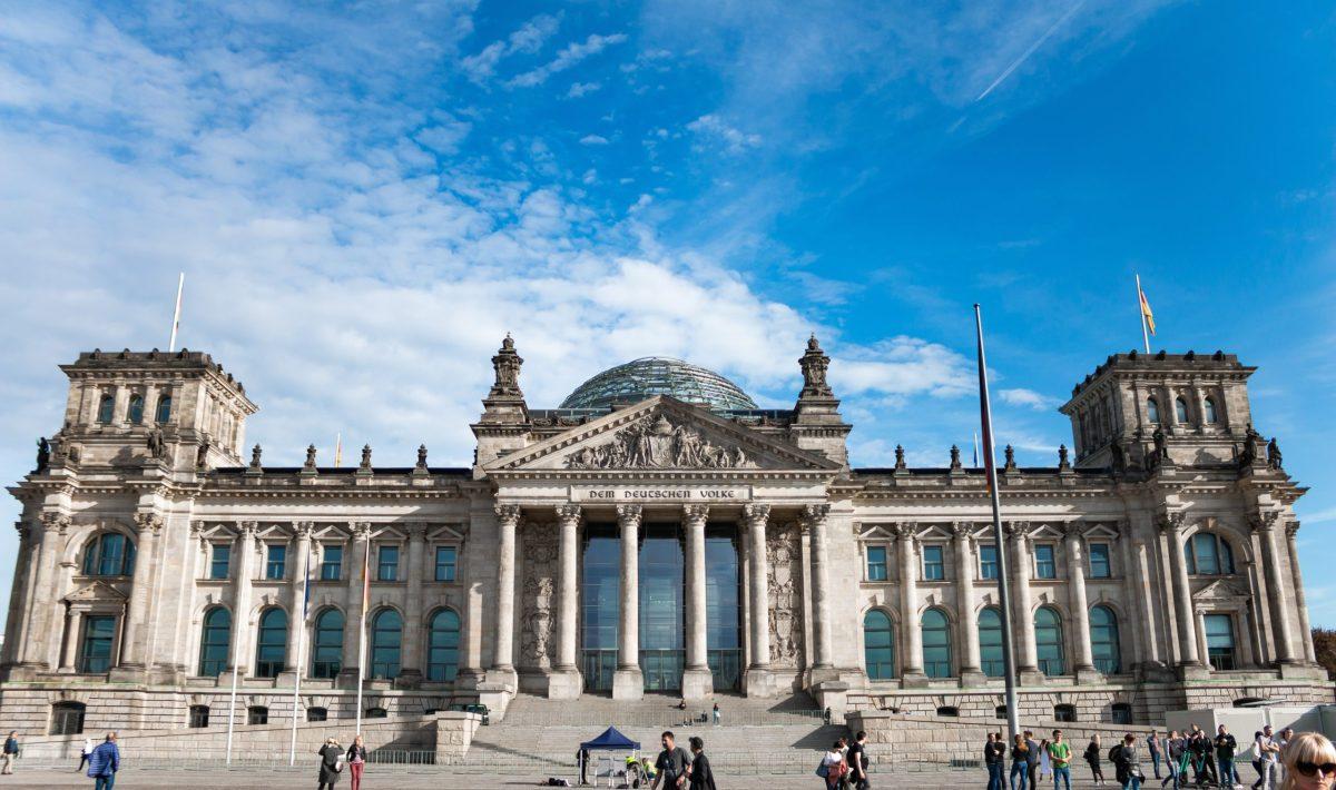 German reichstag building in Berlin