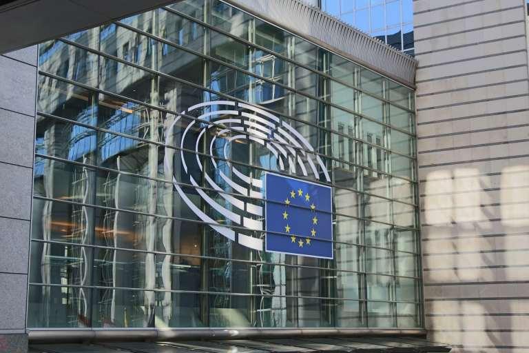 European Parliament building where members speak Euro English