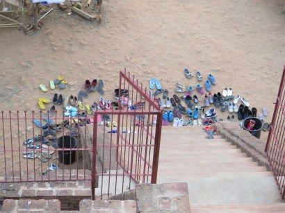 Shoes for everyone on our stupa