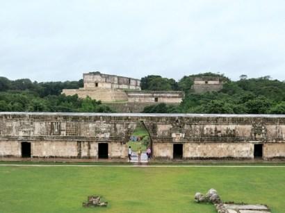 Looking at the Uxmal Palace