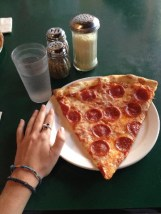 Za Pizza the size of my hand yum!